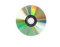 Singolo Cd del disco isolato su bianco. Immagine Stock