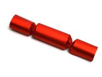 Singolo cracker rosso Fotografie Stock Libere da Diritti