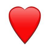 Singolo cuore rosso Fotografia Stock Libera da Diritti