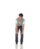 Singolo danzatore di colpetto maschio Fotografie Stock Libere da Diritti
