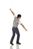 Singolo danzatore di colpetto maschio Fotografia Stock Libera da Diritti
