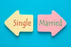 Singolo e sposato immagine stock libera da diritti