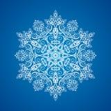 Singolo fiocco di neve dettagliato Fotografia Stock