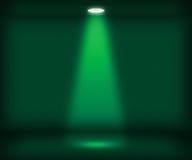 Singolo fondo della stanza di verde del riflettore fotografie stock