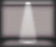Singolo fondo grigio della stanza del riflettore Immagine Stock