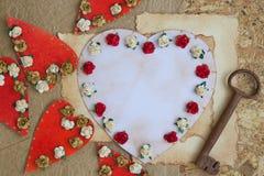 Singolo giorno di biglietti di S. Valentino per fare lista Fotografia Stock Libera da Diritti
