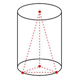 Singolo illustrazione al tratto - cilindro di vettore illustrazione vettoriale