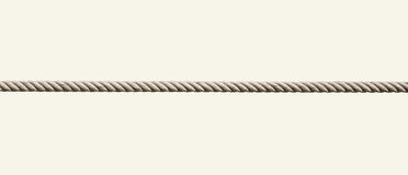 Singolo isolato della corda Fotografie Stock Libere da Diritti