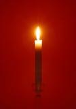 Singolo lume di candela Fotografia Stock