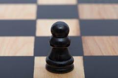 Singolo pegno di legno nero Immagine Stock Libera da Diritti
