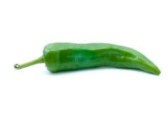 Singolo pepe di peperoncino rosso verde Immagine Stock Libera da Diritti