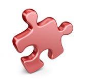 Singolo pezzo del puzzle. icona 3D isolata Fotografie Stock Libere da Diritti