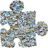 Singolo pezzo di puzzle del mosaico Fotografie Stock Libere da Diritti
