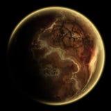 Singolo pianeta in profondità nella galassia illustrazione di stock