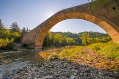 Singolo ponte della portata fotografie stock
