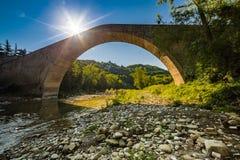 Singolo ponte della portata fotografia stock libera da diritti