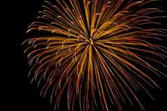 Singolo-scoppi l'acquazzone della striatura dei fuochi d'artificio Fotografia Stock Libera da Diritti