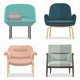 Singolo Sofa Design Fotografia Stock