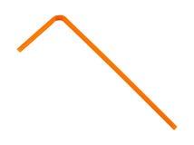 Singolo Straw Orange bevente flessibile Fotografie Stock Libere da Diritti