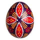 Singolo uovo di Pasqua lusaziano isolato su bianco fotografie stock libere da diritti