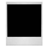 Singolo vecchio spazio in bianco di alta risoluzione della pellicola del Polaroid Fotografie Stock Libere da Diritti