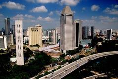 Singpore: Stadshorisont Royaltyfri Foto