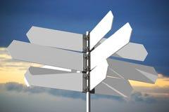 Singpost concept Stock Image