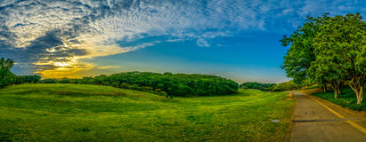 Singring park panorama royalty free stock images