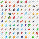 100 sings icons set, isometric 3d style. 100 sings icons set in isometric 3d style for any design vector illustration Royalty Free Stock Photos