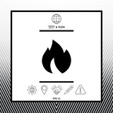 Fire, flame icon. Sings, symbols - graphic elements for your design Royalty Free Stock Photography