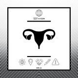 Human organs. Female uterus icon. Sings, symbols - graphic elements for your design Stock Photography
