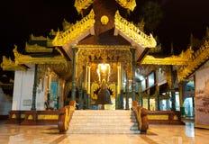 singu för shwedagon för pagoda s för klockakorridorkonung Arkivfoto