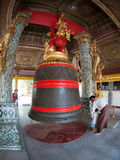 The Singu Min Bell, a large bell located at the Shwedagon Pagoda Stock Image