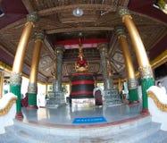 Singuen Min Bell, en stor klocka som lokaliseras på den Shwedagon pagoden Royaltyfria Bilder