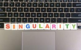 Singularidad de la palabra en fondo del teclado fotografía de archivo libre de regalías
