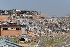 Singularidad del daño del tornado EF5 imagen de archivo libre de regalías