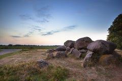 Singularidad holandesa famosa del dolmen Fotografía de archivo