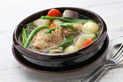Sinigang della carne di maiale, cucina filippina Fotografie Stock Libere da Diritti