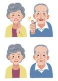 Sinior couple expression Stock Image