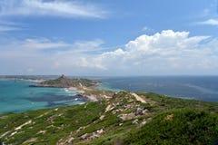 Sinis半岛风景,撒丁岛,意大利的海岛 免版税库存照片