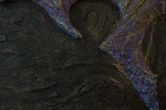 Sinister beeld met elementen van bas-hulp stock fotografie