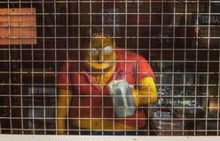 Sinister beeldverhaalcijfer Vlooienmarktmateriaal in Buenos aires 26 05 2019 Horizontaal royalty-vrije stock foto
