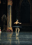 Sinister black swan Ogi Lia-The prince adult ceremony-ballet Swan Lake Stock Photo