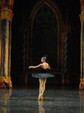 Sinister black swan Ogi Lia-The prince adult ceremony-ballet Swan Lake Stock Image
