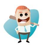 Sinister businessman with baseball bat Royalty Free Stock Photo
