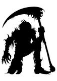 Sinister Dead Warrior Silhouette Royalty Free Stock Photography