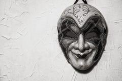Sinister Joker mask. black and white Royalty Free Stock Photo