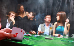Sinister poker players Royalty Free Stock Photography