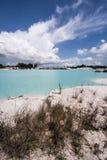 Sinistra della conduttura del caolino, isola 3 del Belitung Fotografie Stock