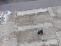 Sinistra in una sedia a rotelle Fotografia Stock